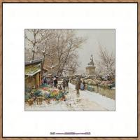 法国印象派艺术家尤金加林拉洛Eugene Galien Laloue巴黎风景印象油画高清大图 (52)