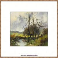 法国印象派艺术家尤金加林拉洛Eugene Galien Laloue巴黎风景印象油画高清大图 (84)