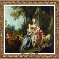 法国洛可可风格画派画家弗朗索瓦布歇Francois Boucher油画作品高清图片肖像画古典宫廷油画高清图片 (250)