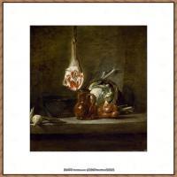 法国著名静物画家夏尔丹Jean Baptiste Siméon静物画巨匠夏尔丹油画作品高清图片 (45)