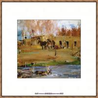 俄裔美籍画家尼古拉费申Nicolai Ivanovich Fechin油画作品高清图片 (28)