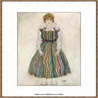 奥地利绘画大师埃贡席勒 Egon Schiele油画作品高清大图席勒绘画作品高清图片 (47)