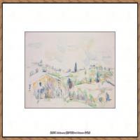 法国著名画家保罗塞尚Paul Cézanne印象派油画作品高清图片塞尚静物画塞尚风景画图片 (141)