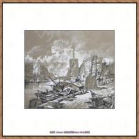 法国印象派艺术家尤金加林拉洛Eugene Galien Laloue巴黎风景印象油画高清大图 (4)