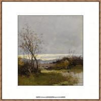 法国印象派艺术家尤金加林拉洛Eugene Galien Laloue巴黎风景印象油画高清大图 (54)