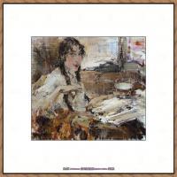 俄裔美籍画家尼古拉费申Nicolai Ivanovich Fechin油画作品高清图片 (24)