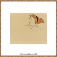 奥地利绘画大师埃贡席勒 Egon Schiele油画作品高清大图席勒绘画作品高清图片 (69)