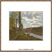 法国印象派艺术家尤金加林拉洛Eugene Galien Laloue巴黎风景印象油画高清大图 (91)