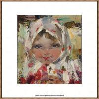 俄裔美籍画家尼古拉费申Nicolai Ivanovich Fechin油画作品高清图片 (6)