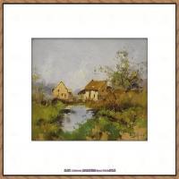 法国印象派艺术家尤金加林拉洛Eugene Galien Laloue巴黎风景印象油画高清大图 (17)
