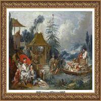 法国洛可可风格画派画家弗朗索瓦布歇Francois Boucher油画作品高清图片肖像画古典宫廷油画高清图片 (36)
