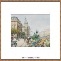 法国印象派艺术家尤金加林拉洛Eugene Galien Laloue巴黎风景印象油画高清大图 (41)