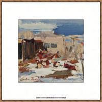 俄裔美籍画家尼古拉费申Nicolai Ivanovich Fechin油画作品高清图片 (25)