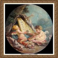 法国洛可可风格画派画家弗朗索瓦布歇Francois Boucher油画作品高清图片肖像画古典宫廷油画高清图片 (18)