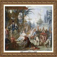 法国洛可可风格画派画家弗朗索瓦布歇Francois Boucher油画作品高清图片肖像画古典宫廷油画高清图片 (33)