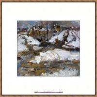 俄裔美籍画家尼古拉费申Nicolai Ivanovich Fechin油画作品高清图片 (19)