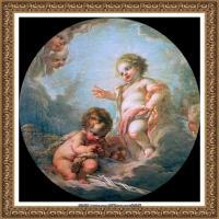 法国洛可可风格画派画家弗朗索瓦布歇Francois Boucher油画作品高清图片肖像画古典宫廷油画高清图片 (3)