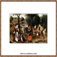 彼得勃鲁盖尔Bruegel Pieter荷兰画家油画作品高清图片 (50)