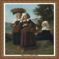 法国学院派画家威廉阿道夫布格罗Bouguereau Adolphe William油画人物高清图片 (96)