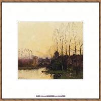法国印象派艺术家尤金加林拉洛Eugene Galien Laloue巴黎风景印象油画高清大图 (2)