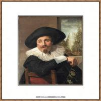 荷兰17世纪著名肖像画家德克哈尔斯Dirck Hals油画人物作品高清图片 (2)