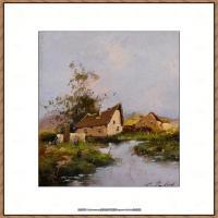 法国印象派艺术家尤金加林拉洛Eugene Galien Laloue巴黎风景印象油画高清大图 (60)