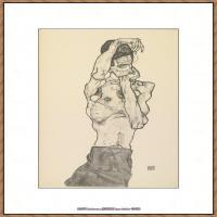 奥地利绘画大师埃贡席勒 Egon Schiele油画作品高清大图席勒绘画作品高清图片 (72)