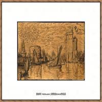 保罗西涅克Paul Signac法国新印象派点彩派大师西涅克绘画作品集La Rochelle (French, Pari