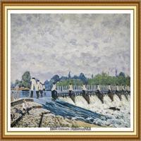 阿尔弗莱德西斯莱Alfred Sisley法国印象派画家世界著名画家风景油画高清图片 (28)