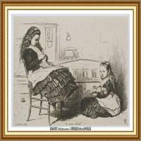 十九世纪英国画家约翰埃弗里特米莱斯John Everett Millais拉斐尔前派画家素描速写 (9)