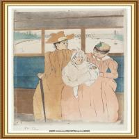 19世纪著名美国印象派女画家玛丽卡萨特Mary Cassatt绘画作品集油画作品高清图片 (67)
