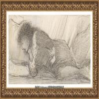 英国新拉斐尔前派画家插画家爱德华伯恩琼斯EdwardBurneJones素描速写手稿作品高清图片插画作品集 (12)