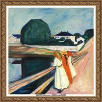 爱德华蒙克Edvard Munch挪威表现主义画家绘画作品集蒙克作品高清图片 (12)
