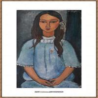 阿梅代奥莫迪利亚尼Amedeo Modigliani意大利著名画家绘画作品集油画作品高清图片Alice