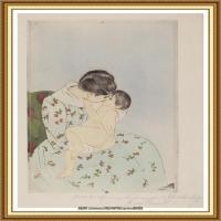 19世纪著名美国印象派女画家玛丽卡萨特Mary Cassatt绘画作品集油画作品高清图片 (66)