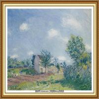 阿尔弗莱德西斯莱Alfred Sisley法国印象派画家世界著名画家风景油画高清图片 (12)