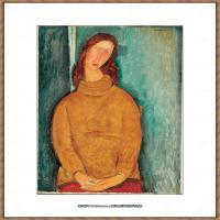 阿梅代奥莫迪利亚尼Amedeo Modigliani意大利著名画家绘画作品集油画作品高清图片Portrait of Je