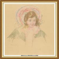 19世纪著名美国印象派女画家玛丽卡萨特Mary Cassatt绘画作品集油画作品高清图片 (79)