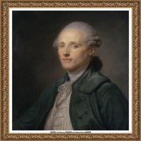 法国洛可可风格画家让巴蒂斯特格勒兹Jean Baptiste Greuze古典人物油画作品图片-Young ma