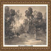 英国画家托马斯庚斯博罗Thomas Gainsborough肖像画风景画素描速写作品高清图片 (27)