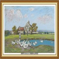 阿尔弗莱德西斯莱Alfred Sisley法国印象派画家世界著名画家风景油画高清图片 (42)