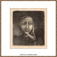 西班牙画家巴勃罗毕加索Pablo Picasso现代派素描毕加索手稿高清图片毕加索素描作品 (127)