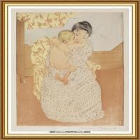 19世纪著名美国印象派女画家玛丽卡萨特Mary Cassatt绘画作品集油画作品高清图片 (68)