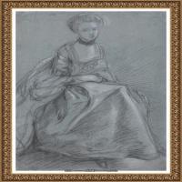 英国画家托马斯庚斯博罗Thomas Gainsborough肖像画风景画素描速写作品高清图片 (41)