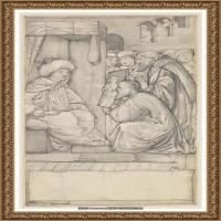 英国新拉斐尔前派画家插画家爱德华伯恩琼斯EdwardBurneJones素描速写手稿作品高清图片插画作品集 (42)