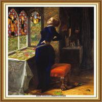十九世纪英国画家约翰埃弗里特米莱斯John Everett Millais拉斐尔前派画家 (32)