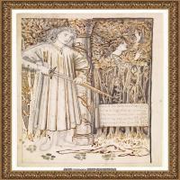英国新拉斐尔前派画家插画家爱德华伯恩琼斯EdwardBurneJones素描速写手稿作品高清图片插画作品集 (2)