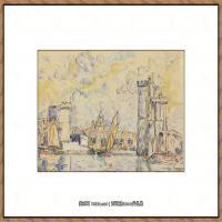 保罗西涅克Paul Signac法国新印象派点彩派大师西涅克绘画作品集Port de La Rochelle
