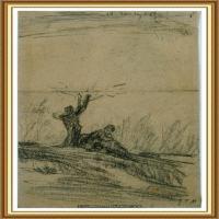 19世纪法国巴比松派画家让弗朗索瓦米勒Jean Francois Millet绘画作品集现实主义画家米勒 (8)