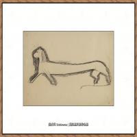 阿梅代奥莫迪利亚尼Amedeo Modigliani意大利著名画家绘画作品集手稿素描作品高清图片LION DE PROF